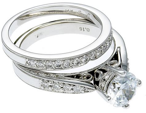 14k white gold diamond engagement ring set the gold atm 14k white gold diamond engagement ring band
