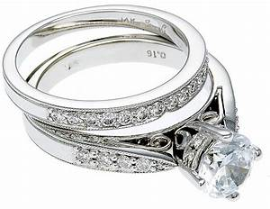 14k white gold diamond engagement ring band With 14k white gold diamond wedding ring