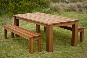 Recycled, Hardwood, Outdoor, Dining, Table, U0026, Bench