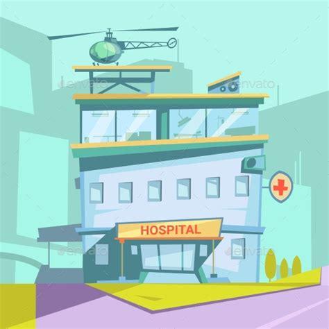 Cartoon Hospital Building