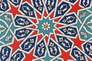 Decorative ceramic tile with classic Turkish geometric ...