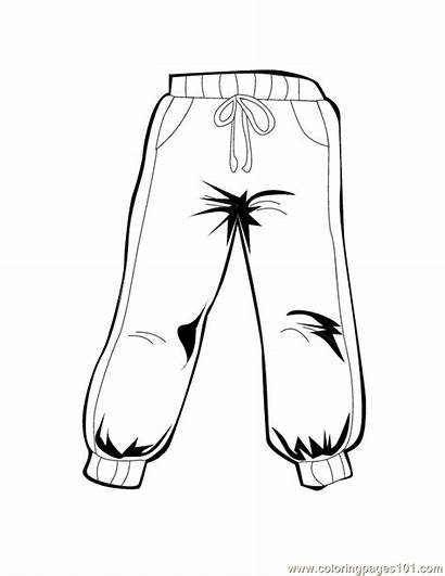 Pants Coloring Pages Sheets Snow Clothes Colouring