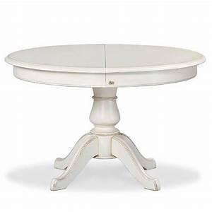 Table Ronde Avec Rallonge Pas Cher : table ronde blanche avec rallonge pied central table de lit ~ Teatrodelosmanantiales.com Idées de Décoration