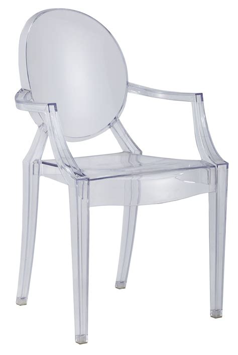chaise de cuisine transparente salon chaise ghost coloris transparent comforium