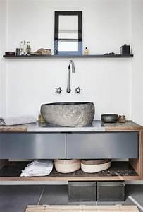 le lavabo en pierre en 61 photos et des astuces deco With lavabo en pierre salle de bain