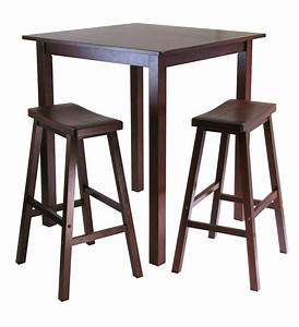 Winsome Parkland 3pc Square High/Pub Table Set with 2
