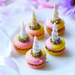 Magical Tri-Colored Unicorn Macarons with Green Tea Swiss