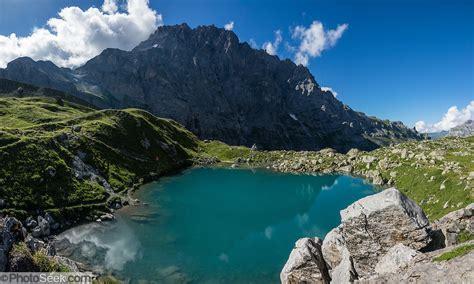 Oberhornsee Lake Upper Lauterbrunnen Valley Switzerland