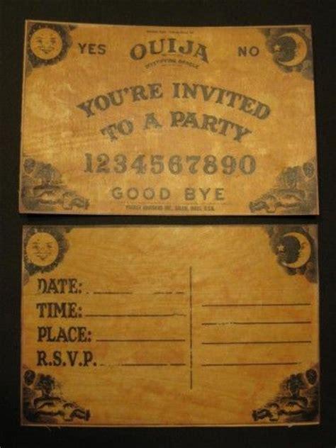ouija party invitations  halloween printable templates