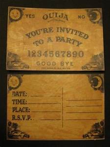 Ouija Party Invitations For Halloween  Printable Templates