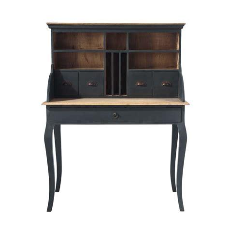 bureau secretaire bois bureau secrétaire en bois noir l 102 cm chenonceau