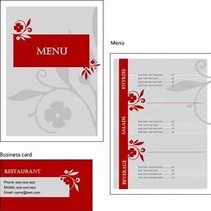 レストランやカフェに最適!おしゃれなメニュー用テンプレート(EPS) - Free-Style