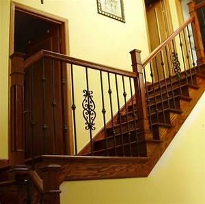 Escalier Fer Et Bois : rampe d 39 escalier garde corps et barreaux en fer forg ~ Dailycaller-alerts.com Idées de Décoration