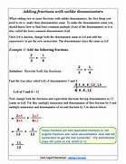 Adding Fractions With Unlike Denominators Gallery For Adding Fractions With Unlike Denominators Adding Fractions Worksheets Adding Mixed Numbers With Common Denominators