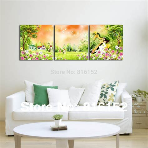 forest harp multi panel paintings wall canvas