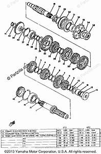 Yamaha Motorcycle 1972 Oem Parts Diagram For Transmission