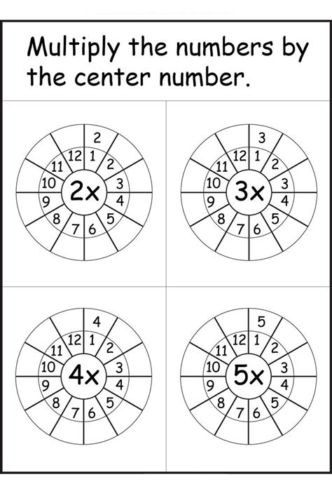 times tables worksheets    printable