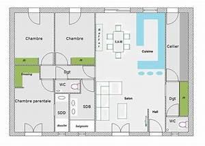plan petite maison plain pied zy95 jornalagora With plan de petite maison