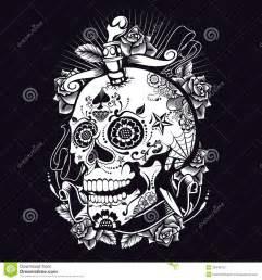 Sugar Skull Black and White