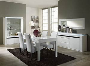 salle a manger contemporaine blanche iconartco With salle a manger contemporaine blanche