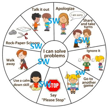 pbis problem solving wheel  social emotional learning