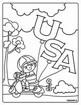 Presidents Coloring Printable Hat Usa Patriotic Bear Wearing sketch template