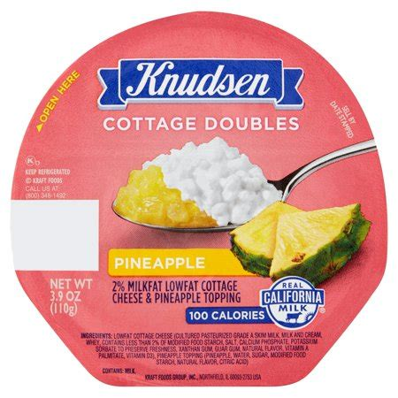 knudsen cottage cheese knudsen cottage doubles pineapple cottage cheese 3 9 oz