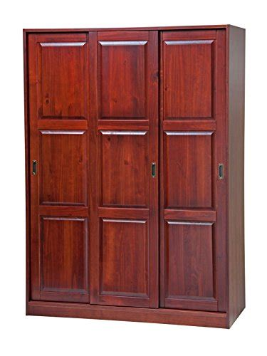 Sliding Door Armoire Wardrobe by 100 Solid Wood 3 Sliding Door Wardrobe