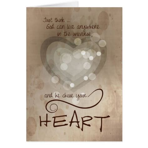 Send encouragement to someone with our encouragement greeting cards. Heart Religious Encouragement Card   Zazzle