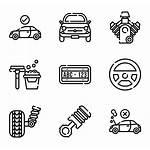 Mechanic Icons Elements Svg Parts Vector Automotive