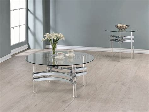 720708 Coffee Table 3pc Set By Coaster W/glass Top