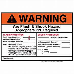 arc flash labels mitchell instrument company With arc flash and shock hazard labels