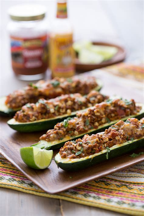 Taco Courgette Boats by Stuffed Zucchini