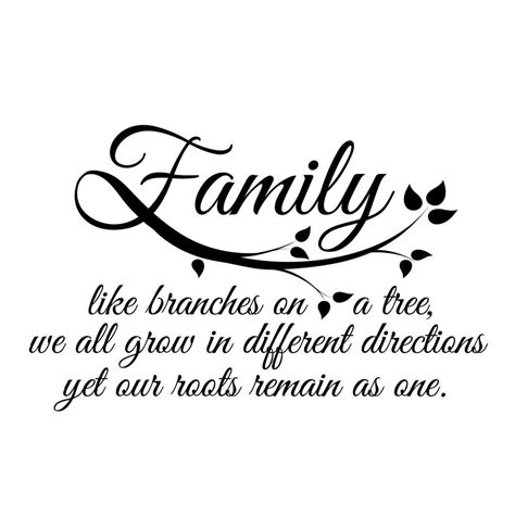 Small Family Quote in Black Tattoo