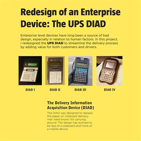 ups diad delivery information acquisition device