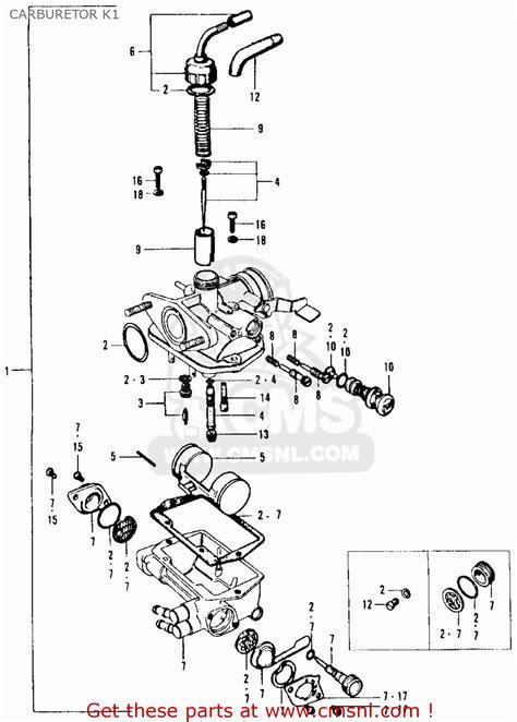 honda ct90 trail 1969 k1 usa carburetor k1 schematic