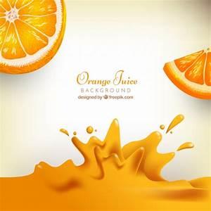 Realistic background of orange juice Vector | Free Download