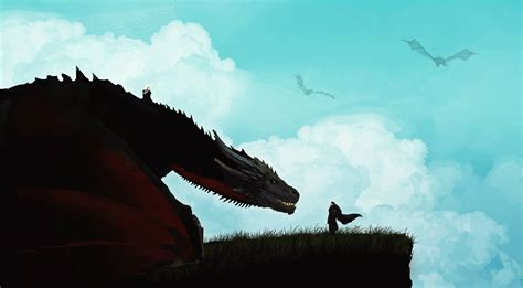 jon snow  khalessi dragon artwork hd tv shows
