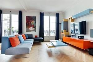 Entre Et Salon Design Et Couleurs Paris Scandinave