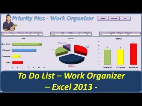 list priority  work organizer vba excel