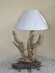 Lampe En Pierre : lampes en bois flott sur socle en pierre n 110 ~ Teatrodelosmanantiales.com Idées de Décoration