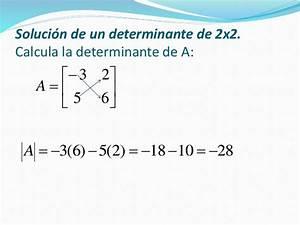 Determinante Berechnen 2x2 : unidad 2 matrices ~ Themetempest.com Abrechnung