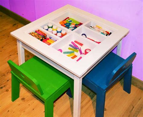 11 Best Photos Of Kids Craft Table Plans  Craft Table. Round Wood Tables. Wood Dining Table. Tables For Toddlers. Baxton Studio Desk. Turquoise Table. Atomic Desk Clock. Ikea Expedit Desk And Bookcase Cube Display. Techni Mobili Glass Desk
