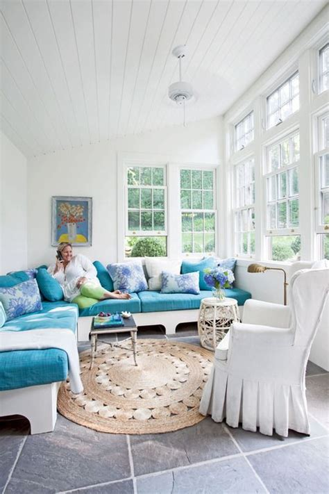 Create Blue White Sunroom by Sunroom The Crisp Clean White And Blue