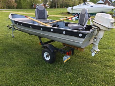 Fishing Boat And Trailer by 1981 Aluminum Fishing Boat And Trailer For Sale In Beaver