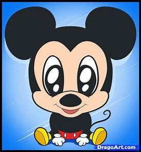 How to Draw Chibi Mickey, Step by Step, Chibis, Draw Chibi ...
