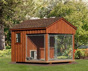 Wooden amish dog house dog kennel in oneonta ny amish for Puppy dog kennels