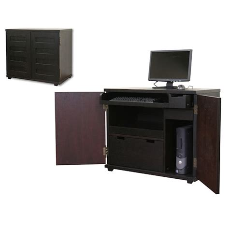crate  barrel incognito ebony compact office