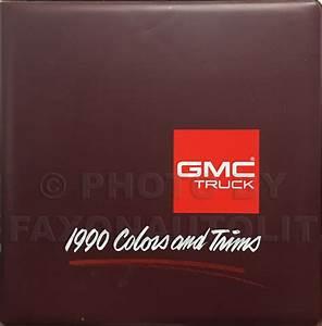 1990 Gmc C  K Sierra Pickup Wiring Diagram Manual 1500 2500