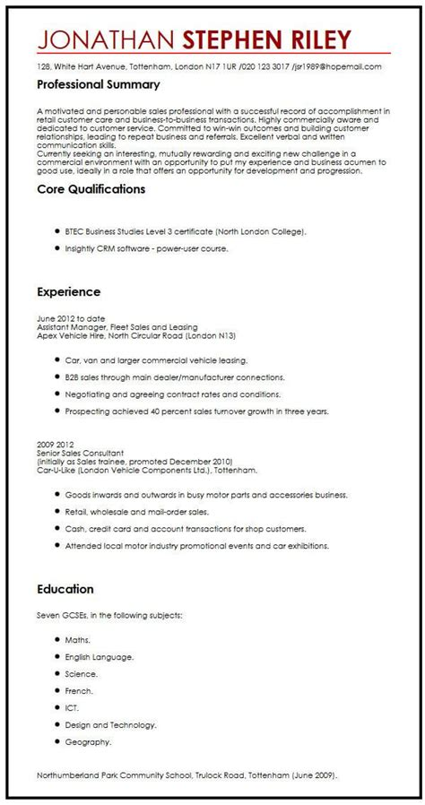 Work Cv Template by 13 Cv Sles For Application Cover Letter